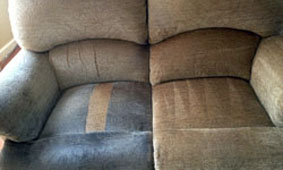 Sofa before and after